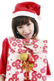 Menina feliz de Santa Imagem de Stock Royalty Free