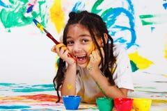 Menina feliz do americano africano Imagens de Stock Royalty Free