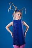 Menina feliz do carnaval Fotos de Stock Royalty Free