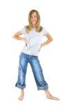 Menina feliz do encalhamento Imagem de Stock Royalty Free