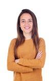 Menina feliz do teenger com dezesseis anos de câmera de vista velha Fotos de Stock Royalty Free