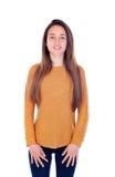 Menina feliz do teenger com dezesseis anos de câmera de vista velha Imagem de Stock Royalty Free