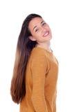 Menina feliz do teenger com dezesseis anos de câmera de vista velha Fotos de Stock