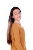 Menina feliz do teenger com dezesseis anos de câmera de vista velha Foto de Stock Royalty Free