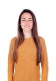 Menina feliz do teenger com dezesseis anos de câmera de vista velha Imagens de Stock Royalty Free