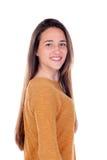 Menina feliz do teenger com dezesseis anos de câmera de vista velha Imagens de Stock