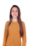 Menina feliz do teenger com dezesseis anos de câmera de vista velha Fotografia de Stock Royalty Free