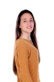 Menina feliz do teenger com dezesseis anos de câmera de vista velha Foto de Stock