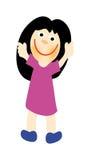 Menina feliz do vetor Fotografia de Stock Royalty Free