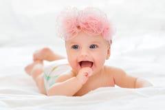 Menina feliz doce do retrato Fotos de Stock