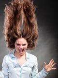 Menina feliz e ectática da mulher que tem o divertimento movimento Imagem de Stock Royalty Free