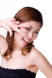 Menina feliz expressivo Fotos de Stock