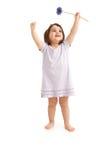 Menina feliz na mola Fotografia de Stock