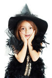 Menina feliz no traje de Halloween Imagens de Stock Royalty Free