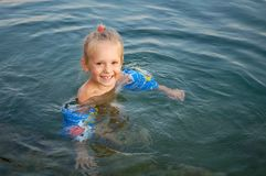 Menina feliz pequena Foto de Stock