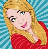 Menina feliz retro Imagens de Stock