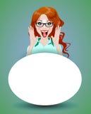 Menina feliz surpreendida Imagens de Stock Royalty Free