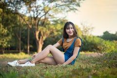 Menina feliz Tailândia Fotos de Stock Royalty Free