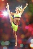 Menina flexível Imagem de Stock Royalty Free
