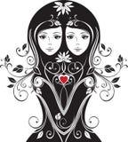 Menina floral Imagens de Stock Royalty Free