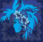 Menina floral Ilustração do Vetor