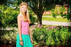 Menina floral Fotografia de Stock Royalty Free