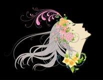 Menina floral Foto de Stock