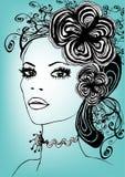 Menina floral creativa ilustração do vetor
