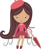 Menina francesa Imagem de Stock Royalty Free
