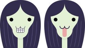 Menina Freaky ilustração do vetor