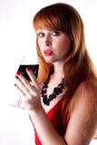 Menina freckled red-haired bonita Fotos de Stock Royalty Free
