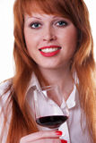Menina freckled red-haired bonita Imagem de Stock Royalty Free