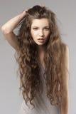 Menina fresca Curly Imagens de Stock