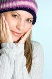 Menina fria do inverno Fotos de Stock