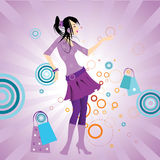Menina funky bonita ilustração royalty free
