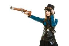 Menina funky no estilo do steampunk Foto de Stock