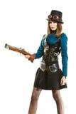 Menina funky no estilo do steampunk Fotografia de Stock Royalty Free