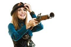 Menina funky no estilo do steampunk Imagem de Stock Royalty Free