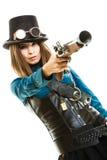 Menina funky no estilo do steampunk Imagem de Stock