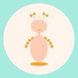Menina futura do robô com curvas Foto de Stock Royalty Free