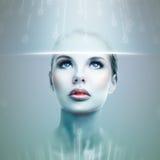 Menina futurista Foto de Stock Royalty Free