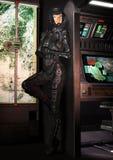 Menina futurista do piloto de espaço Foto de Stock