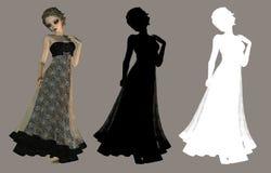 Menina gótico ilustração royalty free