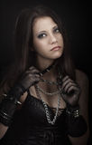 Menina gótico Imagem de Stock Royalty Free