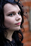 Menina gótico bonita Imagens de Stock Royalty Free