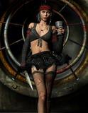 Menina gótico com Chalice e punhal Imagem de Stock Royalty Free