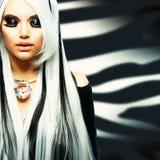 Menina gótico da forma da beleza Fotografia de Stock Royalty Free