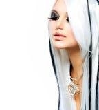 Menina gótico da forma da beleza Fotos de Stock Royalty Free