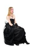 Menina gótico de grito Foto de Stock Royalty Free