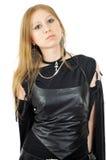 Menina gótico de Indiffenent Fotos de Stock